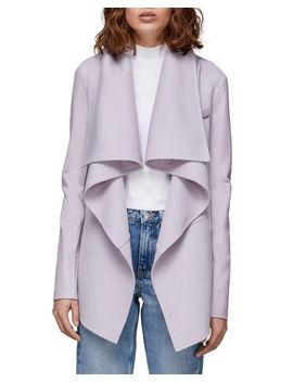 Vane Wool Coat W/ Leather Sleeves by Mackage