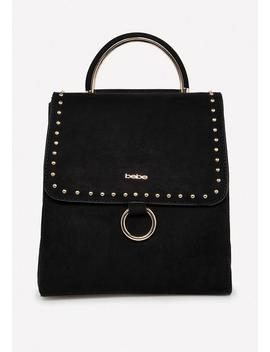 Studded Faux Suede Backpack by Bebe