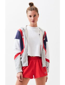Champion Reverse Weave Colorblock Hoodie by Pacsun