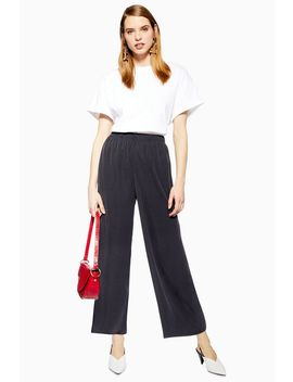 Cupro Wide Leg Trousers by Topshop