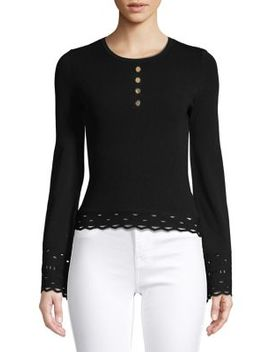 Cut Out Bell Sleeve Top by Autumn Cashmere