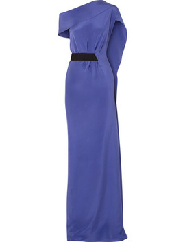 Minton One Shoulder Silk Crepe Gown by Roland Mouret