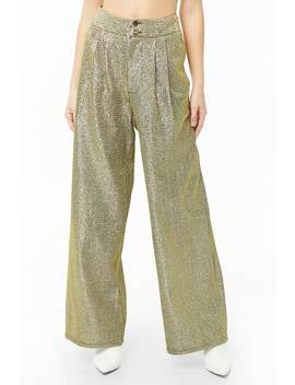 Metallic Wide Leg Pants by Forever 21