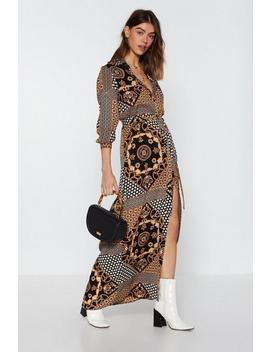 Mixed Signals Maxi Shirt Dress by Nasty Gal