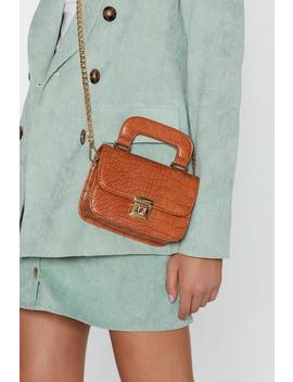 Want You Can Handle It Croc Crossbody Bag by Nasty Gal