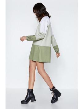 Chip Off The Old Colorblock Sweatshirt Dress by Nasty Gal