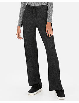 Express One Eleven High Waisted Ribbed Brushed Wide Leg Pants by Express