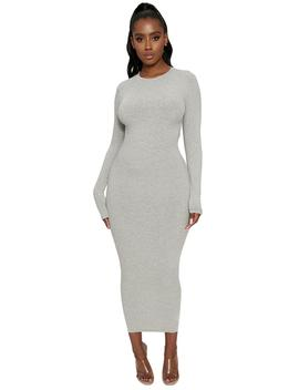 The Snatched Crew Neck Maxi by Naked Wardrobe