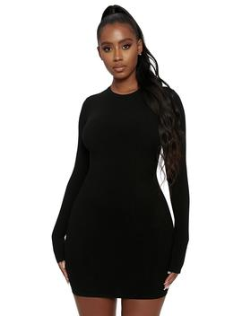 The Snatched Crew Neck Mini Dress by Naked Wardrobe