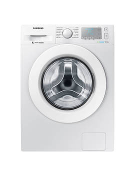 Samsung Ww90 J5456 Ma Ecobubble™  Freestanding Washing Machine, 9kg Load, A+++ Energy Rating, 1400rpm Spin, White by Samsung Ww90 J5456 Ma Ecobubble