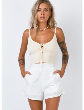 King Of Animals High Waisted Shorts White by Princess Polly