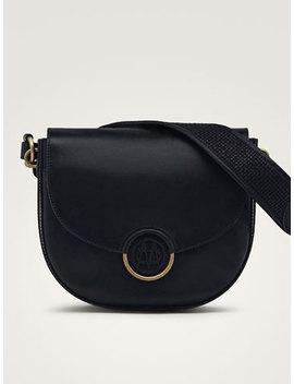 Black Nappa Handbag With Logo by Massimo Dutti