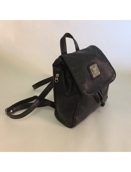 Vintage Goth Bag // 90s Mini Backpack // Gothic Accessories // 1990s Purse // Vegan Leather Bag // Black Leather // Club Kid Y2k Fashion // by Etsy
