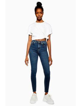 Vintage Indigo Raw Hem Jamie Jeans by Topshop