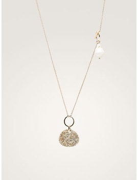 Pearl Bead And Coin Necklace by Massimo Dutti