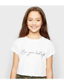 girls-white-be-your-best-self-slogan-t-shirt by new-look