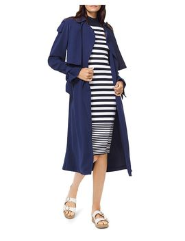 Belted Tie Detail Trench Coat by Michael Michael Kors