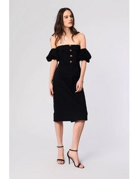 **Bardot Puff Sleeve Dress By Glamorous by Topshop