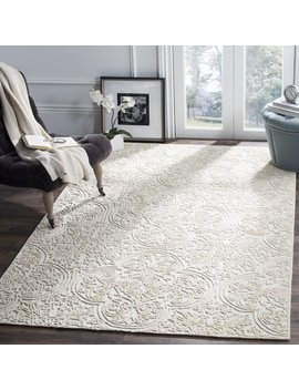 Marys Rustic Hand Tufted Wool Ivory Area Rug by Rosdorf Park