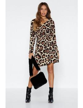 Belt It In My Heart Leopard Dress by Nasty Gal