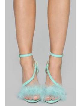 Heavily Mistaken Heeled Sandal   Mint by Fashion Nova