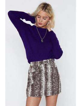 What Do You Snake Me For Denim Skirt by Nasty Gal