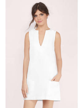 Paris White Shift Dress by Tobi