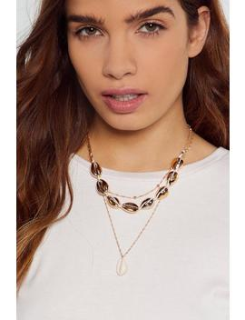 Shell A Good Layered Necklace by Nasty Gal