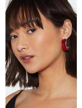 Snake It Hoop Earrings by Nasty Gal