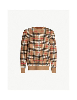 Banbury Checked Cashmere Jumper by Burberry