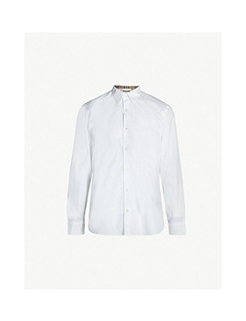 Regular Fit Stretch Cotton Shirt by Burberry