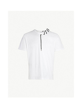 Laced Cotton Jersey T Shirt by Craig Green