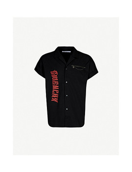 Chain Trim Graphic Slim Fit Cotton Shirt by Givenchy