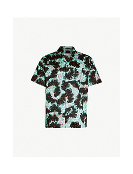 Patterned Relaxed Fit Cotton Shirt by Givenchy