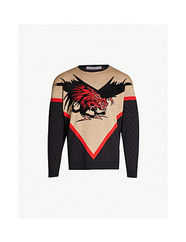 Dragon Intarsia Wool Jumper by Givenchy