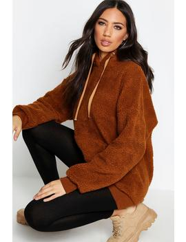 Fit Teddy Fur Hoody by Boohoo