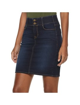 Women's Apt. 9® Tummy Control Denim Skirt by Apt. 9