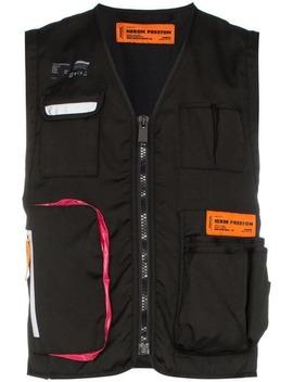 Logo Patch Tool Vest by Heron Preston