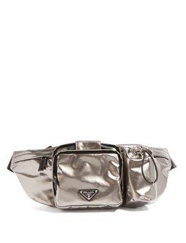Metallic Nylon Belt Bag by Prada
