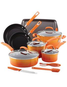 Rachael Ray Brights 14 Pc. Nonstick Cookware Set by Kohl's