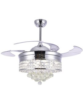 Abella 4 Blade Led Ceiling Fan With Remote by Mercer41