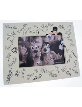 """Disney Parks Character Autographs Signatures Photo Frame 4""""X6"""" New With Box by Disney"""
