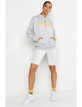 Los Angeles Slogan Hoody by Boohoo