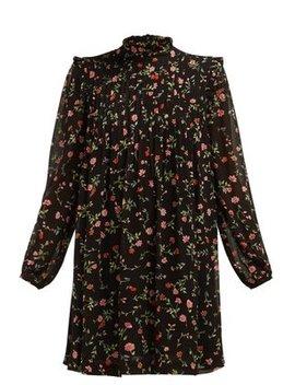 Elm Floral Print Mini Dress by Ganni