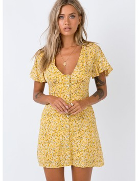 The Same Same Mini Dress Yellow by Princess Polly