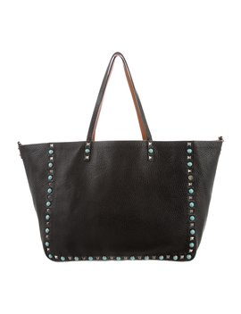 Rolling Rockstud Reversible Tote by Valentino