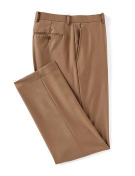 Flat Front Modern Fit Travel Smart Dress Pants by Cremieux