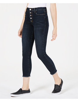 Ashley Button Fly Cropped Skinny Jeans by Sts Blue