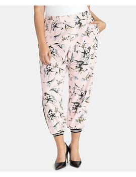 Trendy Plus Size Floral Print Joggers by Rachel Rachel Roy