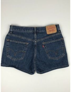 Levi's 505 Regular Fit 100 Percents Cotton Dark Wash Jean Mini Short Shorts Women's 33 by Levi's